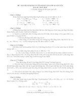 Đề tham khảo thi chuyên Hóa ( 2 đề)