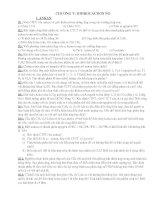 bài tập chương 5 lớp 11