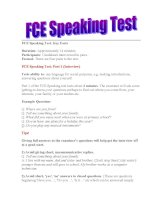 First Certificate in English  Practice Tests