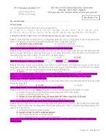 Lời giải chi tiết môn HÓA khối B 2010
