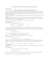 các phương pháp giải bài tập hóa học