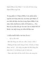 Open Office Calc-Phần 3: Các kiểu dữ liệu trong Open Office.org Calc ppt