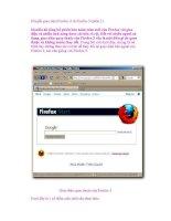 Chuyển giao diện Firefox 4 về Firefox 3 (phần 1) pps