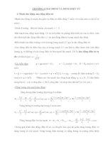 Lý thuyết và bài tập Lý 12 nâng cao - DAO ĐỘNG VÀ SÓNG ĐIỆN TỪ pps