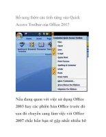 Bổ sung thêm các tính năng vào Quick Access Toolbar của Office 2007 docx
