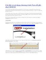 Cài đặt và sử dụng chương trình Nero để ghi dĩa CD/DVD