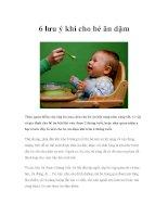6 lưu ý khi cho bé ăn dặm pdf