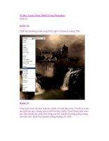 Vẽ Bức Tranh Thiên Nhiên Trong Photoshop (phần 6) ppsx