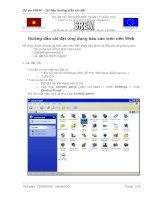 Hướng dẫn cài đặt ứng dụng báo cáo trên nền Web