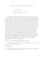 DẠY HỌC VÀ KIỂM TRA ĐÁNH GIÁ THEO CHUẨN