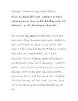 Khôi phục Windows trong 10 phút (Phần I) potx