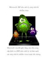 Microsoft: ISP nên cách ly máy tính bị nhiễm virus doc