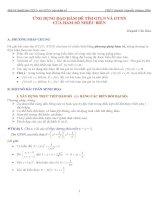 ứng dụng đạo hàm để tìm min, max hàm số nhiều biến