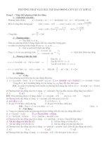 Các dạng bài tập và phương pháp giải phần ddch