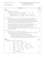 ĐÁP ÁN MÔN HOÁ - KỲ THI ĐẠI HỌC KHỐI A NĂM 2003 pdf