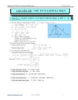 Chuyên đề: Thể tích khối đa diện docx