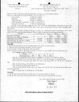 Đề thi Kế Toán quản trị số 1 pps