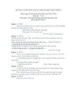 Đề thi và đáp án thi tuyển lớp 10 (Đà Nẵng 2010-2011)