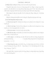 Lý thuyết và bài tập Lý 12 nâng cao - SÓNG CƠ ppt