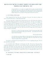BÀI 20. XÂY DỰNG VÀ PHÁT TRIỂN VĂN HOÁ DÂN TỘC TRONG CÁC THẾ KỈ X - XV