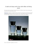 5 cách sử dụng nước hoa sành điệu và thông minh pptx