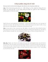 5 thực phẩm vàng cho trí nhớ pdf