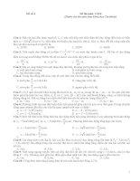 Đề thi Vật lí (Dành cho thí sinh Ban Khoa học Tự nhiên) Đề số 4 pps