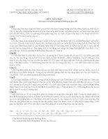 Đề thi vào chuyên Hóa KHTN 10-11