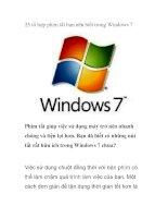 25 tổ hợp phím tắt bạn nên biết trong Windows 7 pps