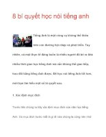 8 bí quyết học nói tiếng anh ppsx