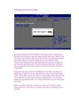 Khôi phục password trong BIOS ppt