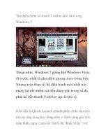 Tìm hiểu thêm về thanh Taskbar độc đáo trong Windows 7 potx