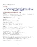 Ứng dụng đạo hàm để giải phương trình... pptx
