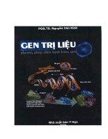 Gen trị liệu: Phương pháp trị liệu bằng Gen - Ts.Nguyễn Văn Kỉnh phần 1 potx