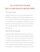 CÁC VẤN ĐỀ TÂM LÝ GIA ĐÌNH MỘT GÓC NHÌN THEO QUAN ĐIỂM HỆ THỐNG docx