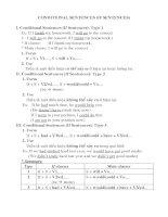 Unit 5 Conditional sentences