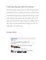 5 tính năng đáng ghét nhất trên Facebook docx