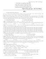 Bộ đề thi thử ĐH môn hóa trường THPT Yên Phong I ppsx