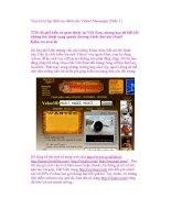 Trọn bộ bí kíp đỉnh cao dành cho Yahoo! Messenger (Phần 1) doc