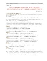 phương trình, hệ phương trình chứa tham số có giải chi tiết