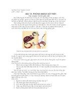 bài 12. Phòng bệnh sốt rét