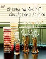 Kĩ thuật tìm công thức của các hợp chất vô cơ