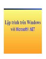 Bài giảng: Lập trình trên Windows với Microsoft® .NET docx