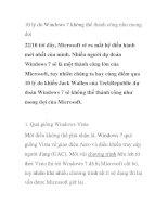 10 lý do Windows 7 không thể thành công như mong đợi doc