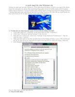6 thủ thuật để tăng tốc Windows pps