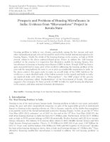 prospects and problems of housing microfinance in india