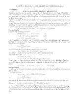 Các phương pháp giải bài tập Hoá