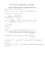 bài tập pt& bpt mũ và log