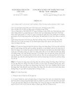 THÔNG TƯ QUY ĐỊNH MỨC LÃI SUẤT HUY ĐỘNG VỐN TỐI ĐA BẰNG ĐỒNG VIỆT NAM pps