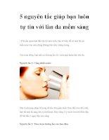 5 nguyên tắc giúp bạn luôn tự tin với làn da mềm sáng pdf